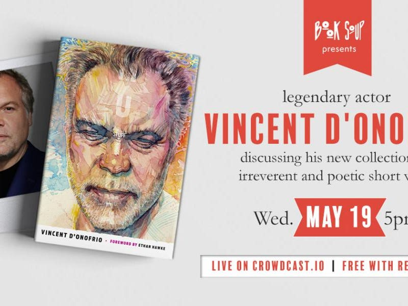 Main image for event titled Vincent D'Onofrio discusses Mutha: Stuff & Things: by Book Soup