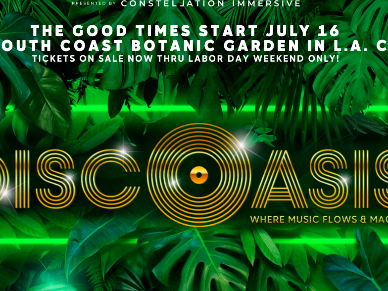 Main image for event titled The DiscOasis Blooms at the South Coast Botanic Garden, With Nile Rodgers as Groovemaster