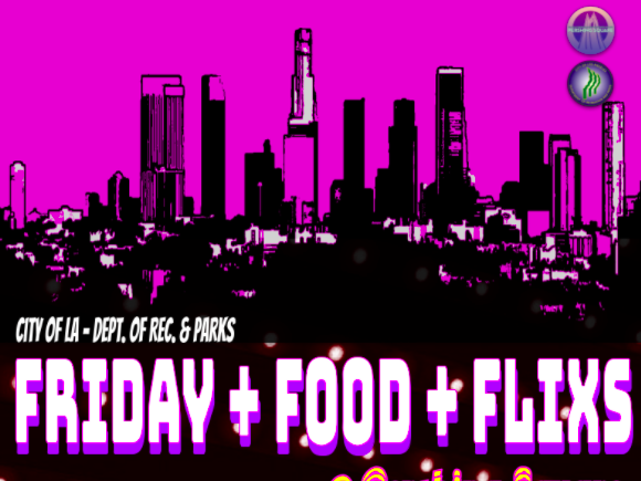 Main image for event titled Friday + Food + Flixs @ Pershing Square