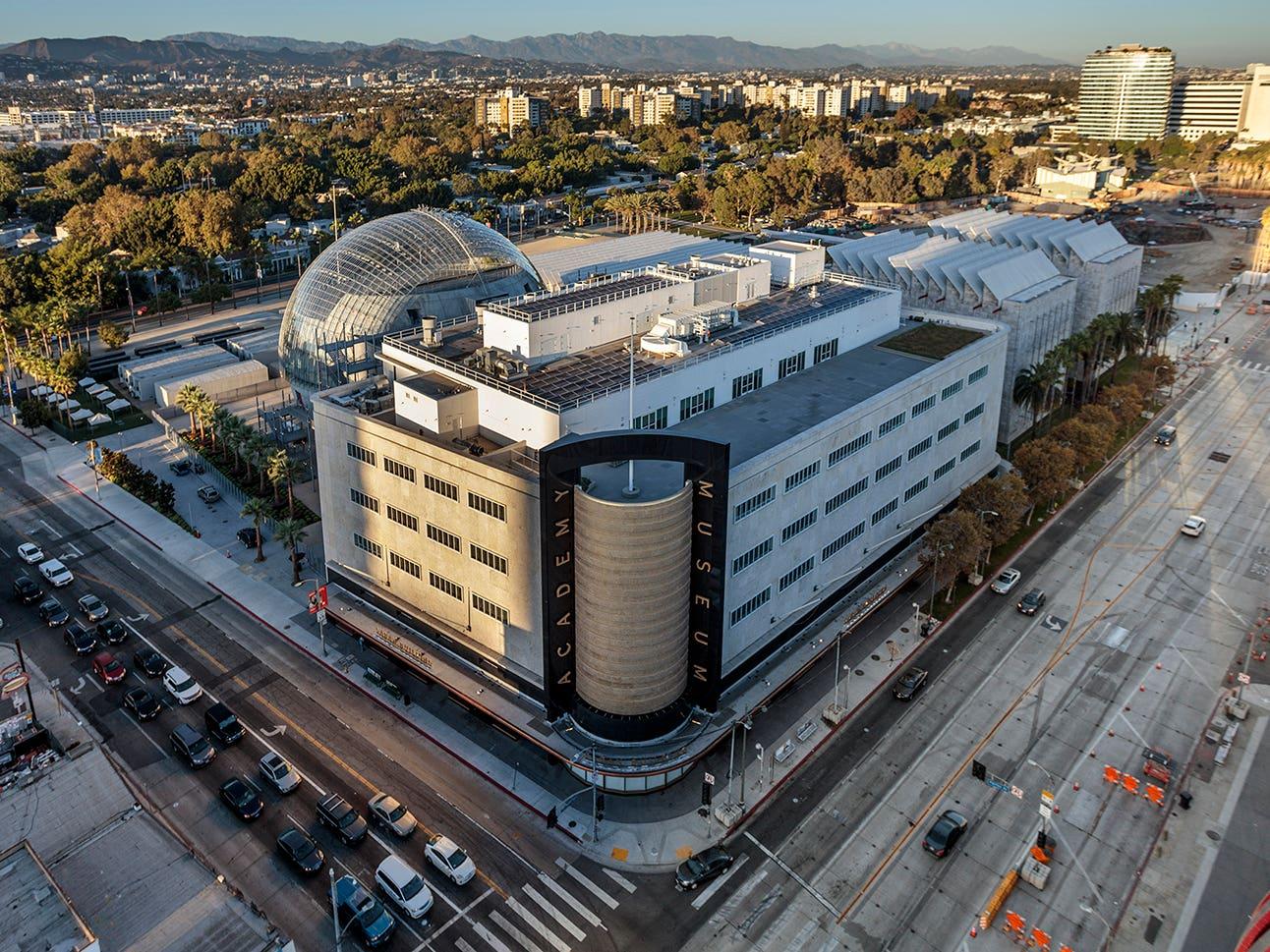 Academy Museum Exterior 2021 Drone