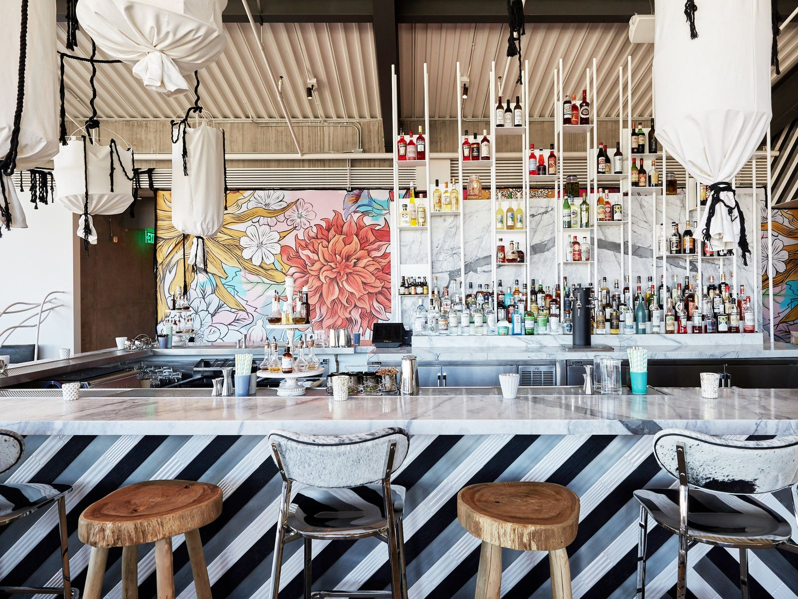 The bar at Margot in Culver City