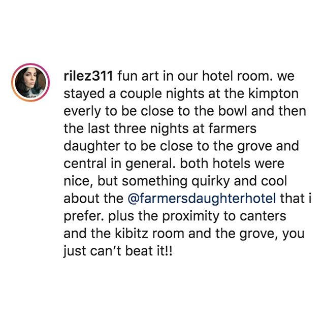 Instagram image from Farmer's Daughter Hotel