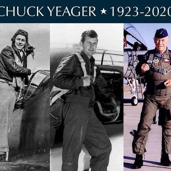 "Yesterday the world lost a great one. Every time we look to the skies, we will be reminded of Chuck Yeager's lasting impact on every one of us that call the skies home.  May his legacy live on forever. RIP Brig. Gen. Chuck Yeager.   ""I've topped the wind-swept heights with easy grace Where never lark, or ever eagle flew – And, while with silent, lifting mind I've trod The high untrespassed sanctity of space, Put out my hand, and touched the face of God...."" ✈️🇺🇸🙏🏻 #chuckyeager #therightstuff #legend #americanhero #aviator #testpilot #americanpioneer #aviation #avgeek #airportlife #pilotlife #veteran #usaf  ✈️🇺🇸"