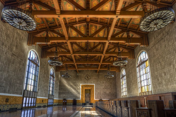 Union Station ticket concourse | Photo courtesy of Candice Montgomery, Discover Los Angeles Flickr pool