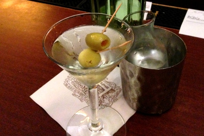 Classic Martini at Musso & Frank Grill   |  Photo: Daniel Djang