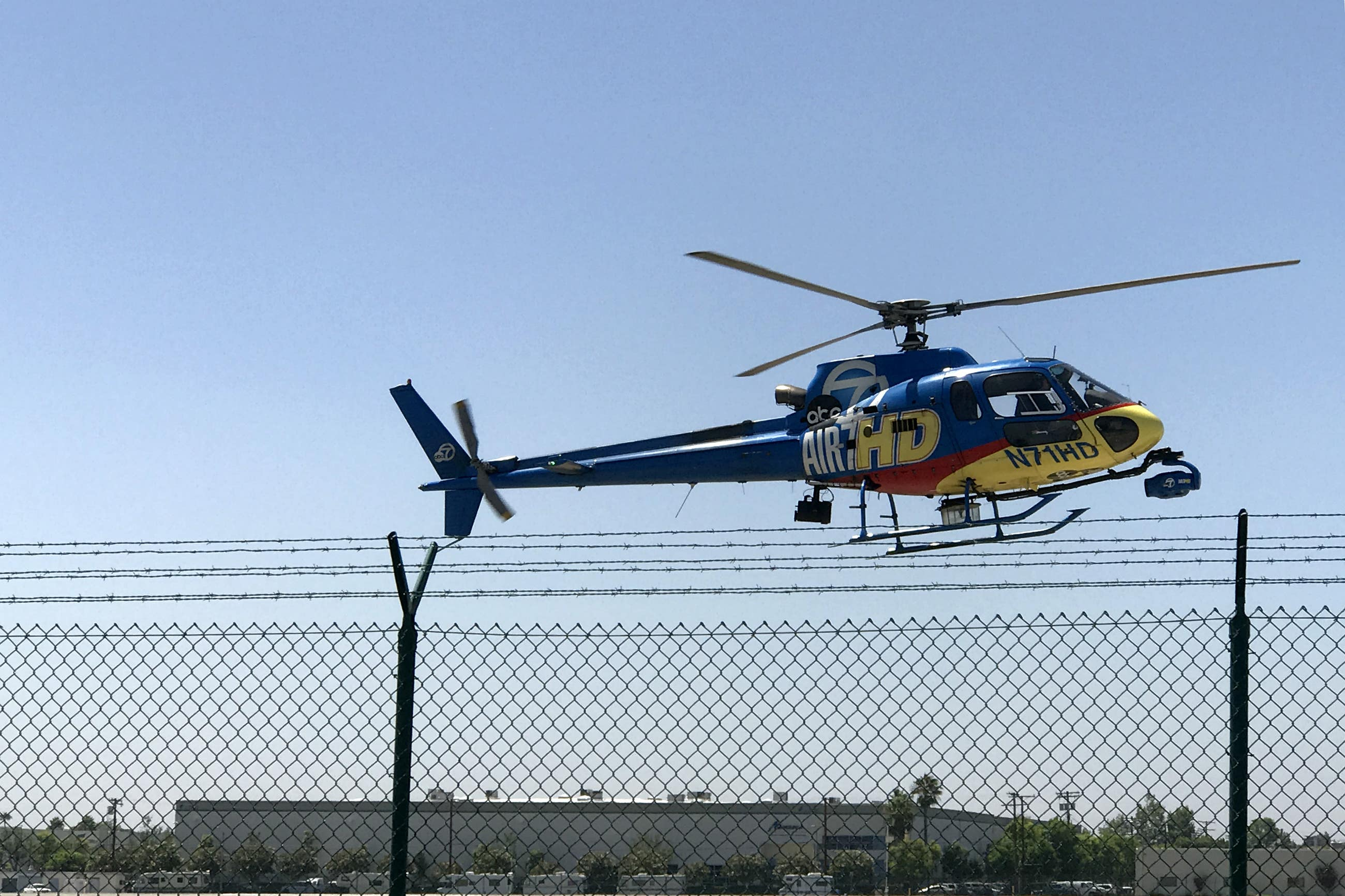 ABC Air 7 news copter landing at Van Nuys Airport