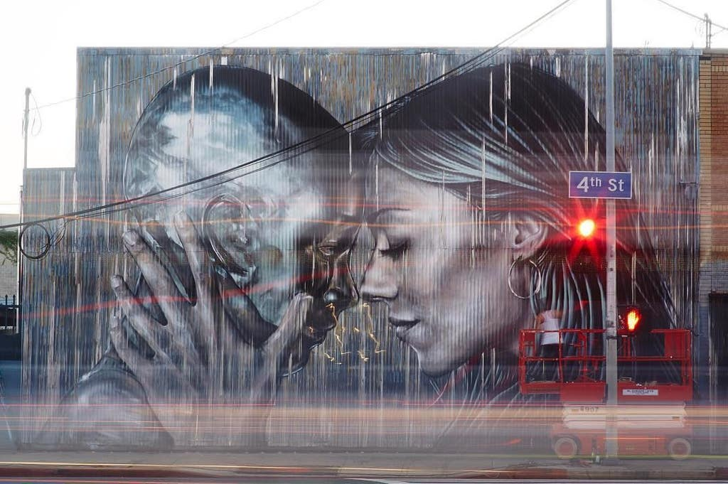 Arts District mural by Christina Angelina and Fanakapan | Instagram by @starfightera