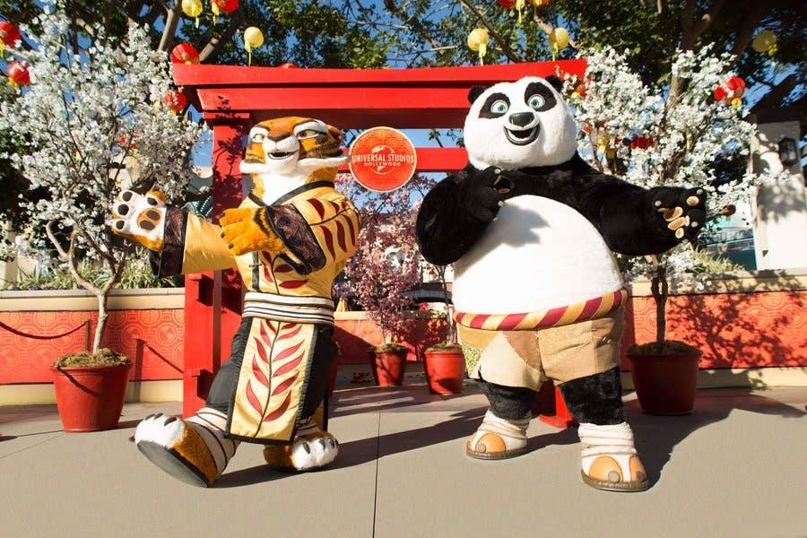 Tigress and Po at Lunar New Year at Universal Studios Hollywood | Photo by David Sprague courtesy of Universal Studios Hollywood