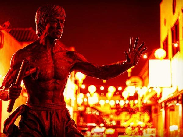 Bruce Lee statue in Chinatown's Central Plaza