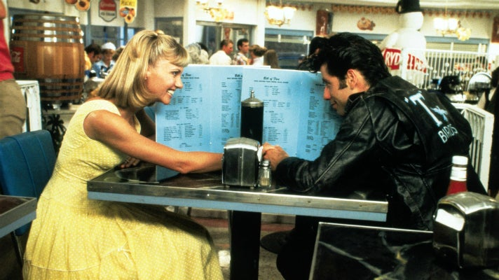 "Sandy and Danny at the Frosty Palace in ""Grease"" 