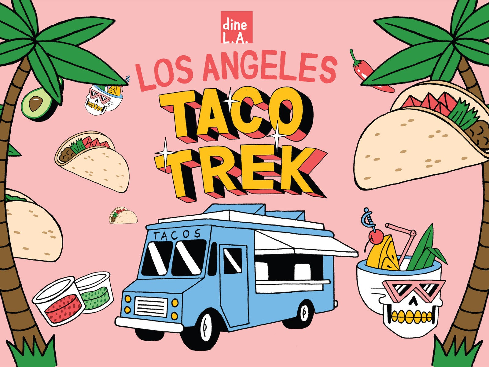 Main image for guide titled dineL.A. Taco Trek