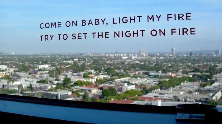 The Doors lyrics at The Andaz West Hollywood