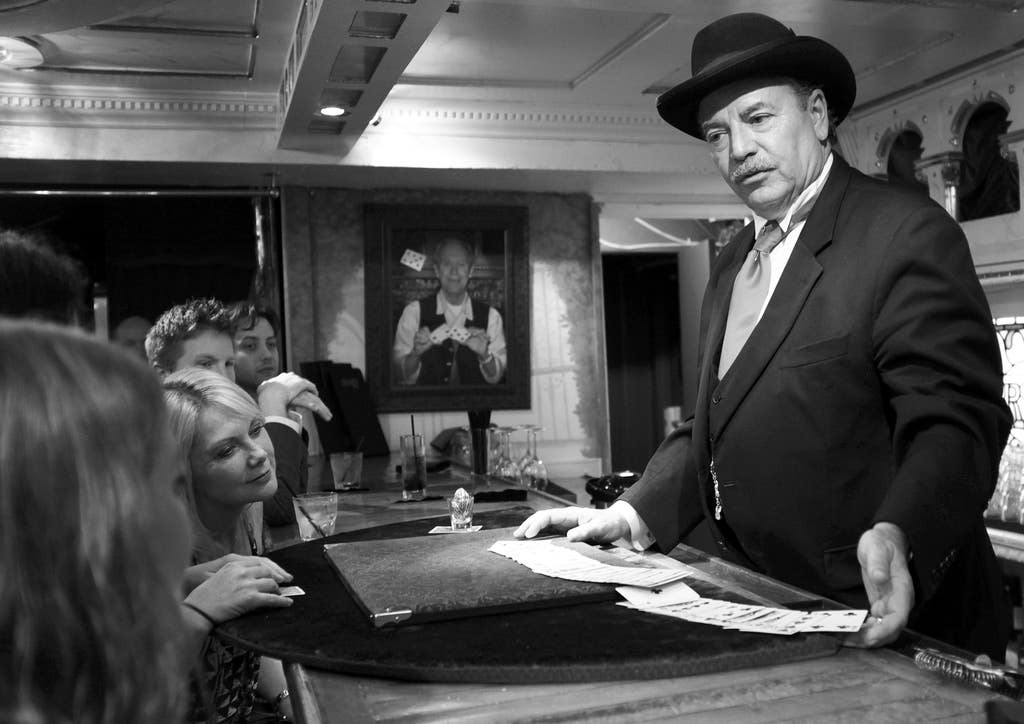 """Whit """"Pop"""" Haydn performs in the W. C. Fields Bar at the Magic Castle 