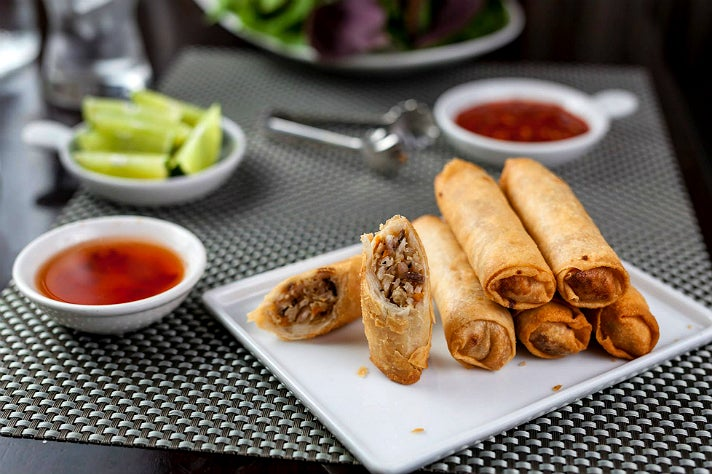 Eggless egg rolls | Photo: Au Lac Los Angeles, Facebook