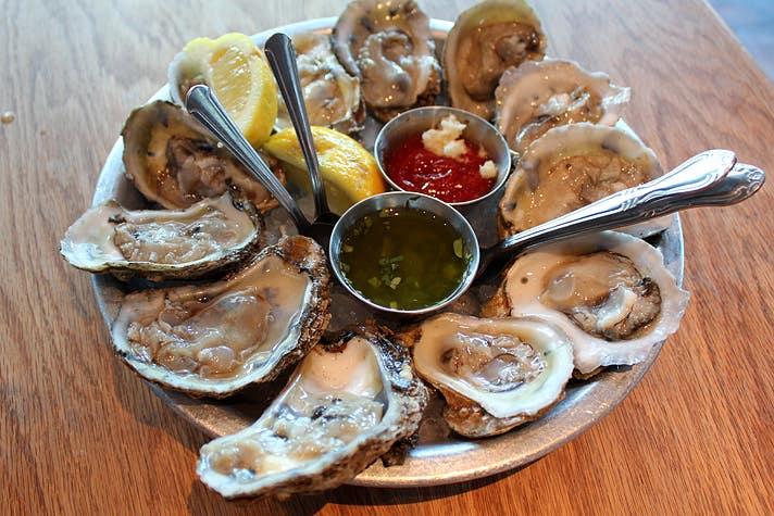 Eastern oysters at EMC Seafood & Raw Bar   Courtesy Photo of Bill Esparza