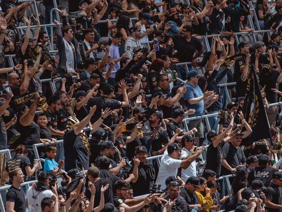 LAFC fans at Banc of California Stadium