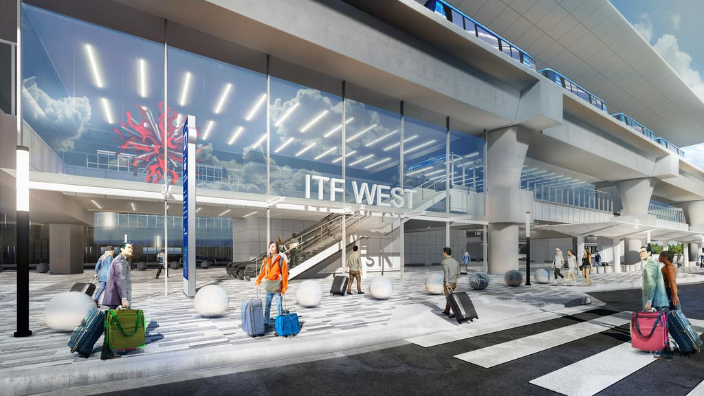 ITF West Plaza at LAX   Rendering courtesy of LAWA