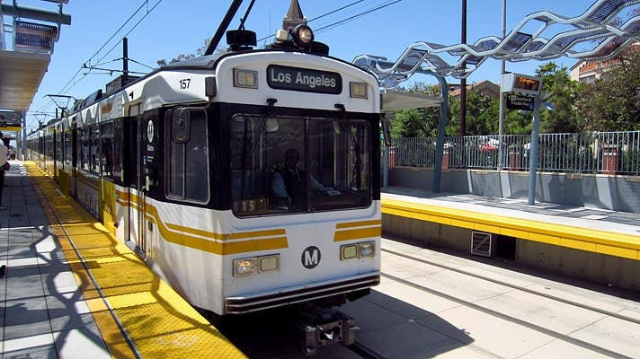 Expo Park/USC Station on the Metro E Line (Expo)