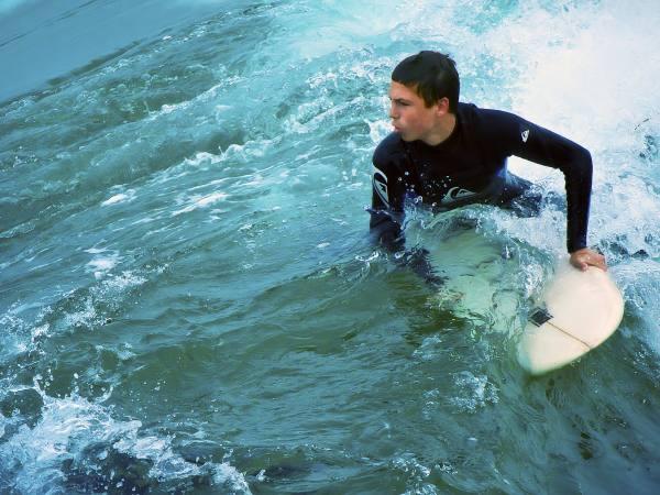 Surfing Manhattan Beach