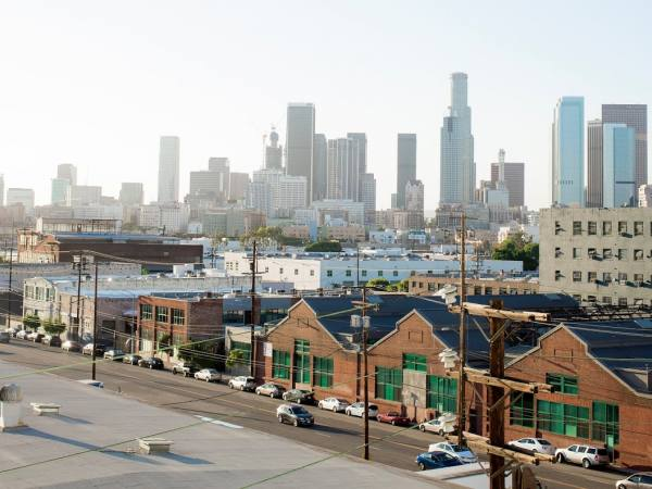 Downtown L.A. viewed from the Arts District