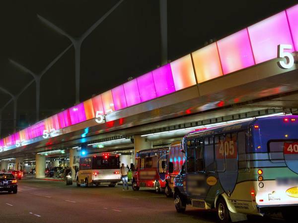 FlyAway drop off at LAX Terminal 5