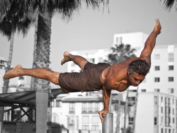 Handstand in Venice Beach