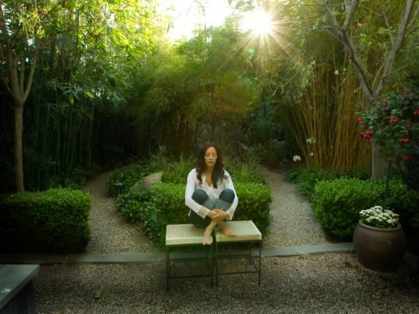 Meditating at Peace Awareness Labyrinth & Gardens
