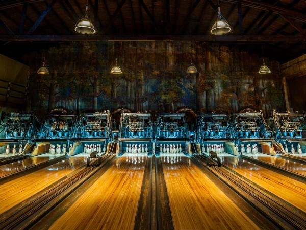 Highland Park Bowl bowling lanes and pins