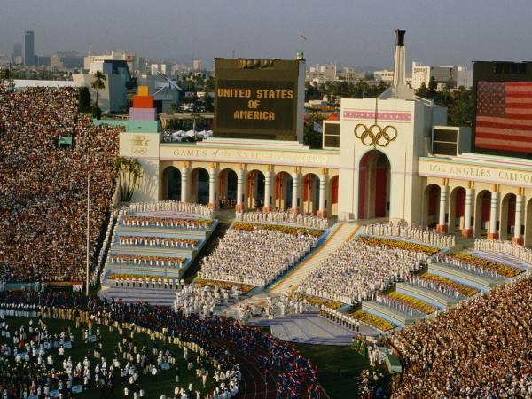 LA Coliseum 1984 Summer Olympics Opening Ceremony