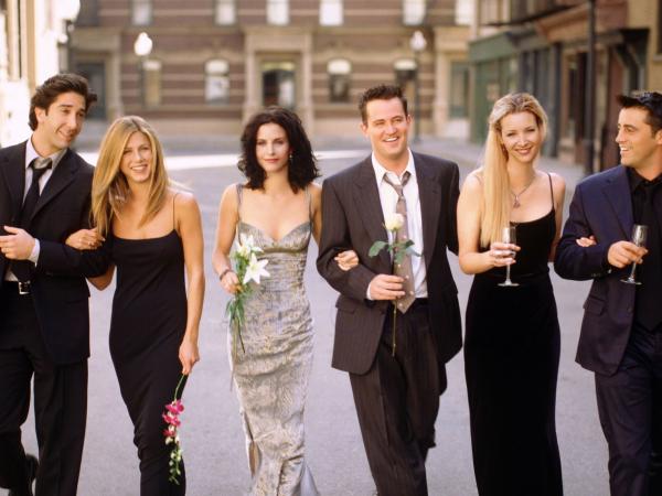 """Friends"" cast at Warner Bros. Studio"