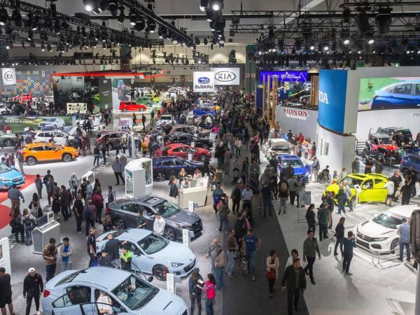 West Hall of the 2018 LA Auto Show