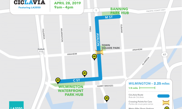 Explore one of the region's historic communities as CicLAvia turns streets in Wilmington into a public park.