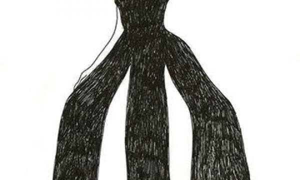 """Fashion sketch of """"duotard"""" costume by Rudi Gernreich for the Lewitzky Dance Company Fashion sketch of """"duotard"""" costume by Rudi Gernreich for the Lewitzky Dance Company, 1976. Courtesy of Rudi Gernreich LLC, under exclusive license from ACLU Foundation of Southern California. Rudi Gernreich papers (Collection 1702). Library Special Collections, Charles E. Young Research Library, UCLA."""