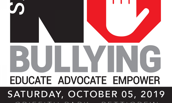 4th Annual Say NO Bullying Festival, Educate Advocate Empower, Saturday October 5th 2019, Griffith Park - Pettigrew https://www.saynobullying.org/