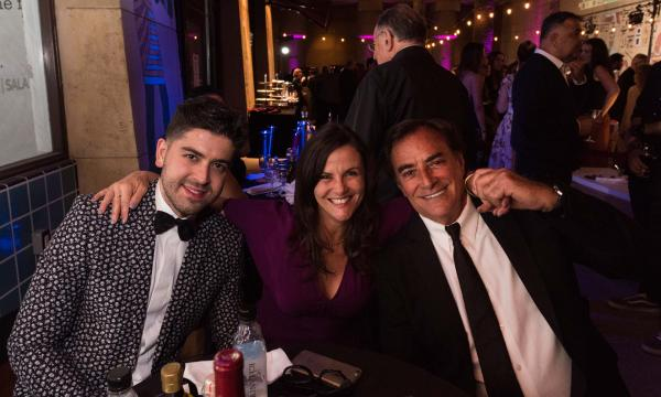 Gia Carides (middle) and Thaao Penghlis (right) with friend at LAGFF