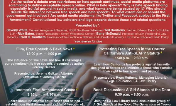 Freedom of Speech lecture/debate at LA Law Library