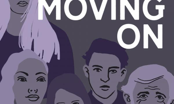 Poster graphic for Moving On