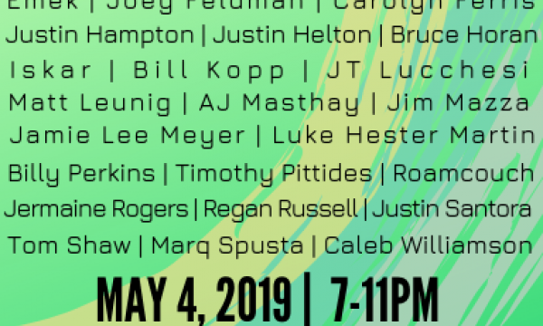 Featuring over 30 artists, EXQUISITE  opens May 4th, 2019 at 7-11PM