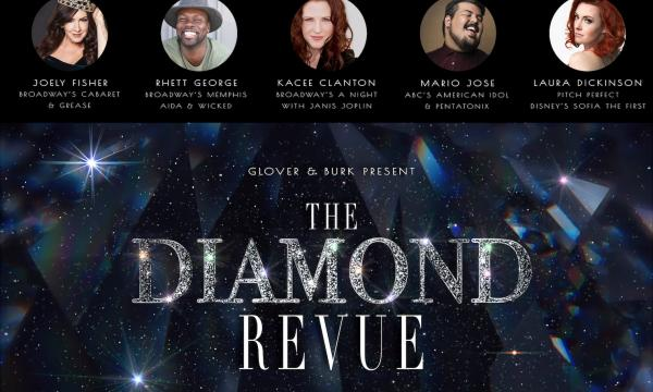Diamond Revue Poster featuring images of key cast.