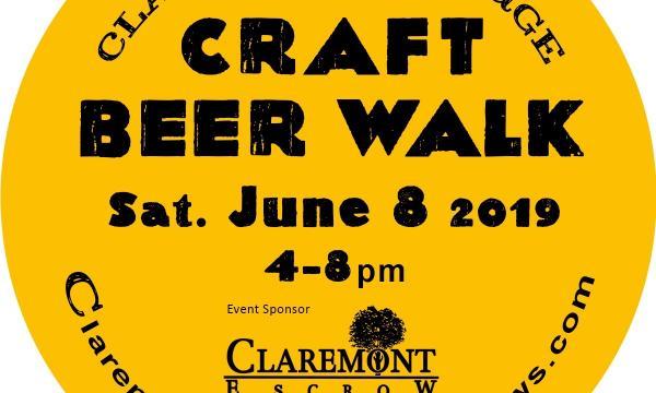 Claremont Village Blues and Brews Coaster Logo