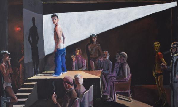 "Patrick Angus, Boys Do Fall in Love, 1984, Acrylic on canvas, 48 x 66"", Collection of Andreas Pucher, Stuttgart"
