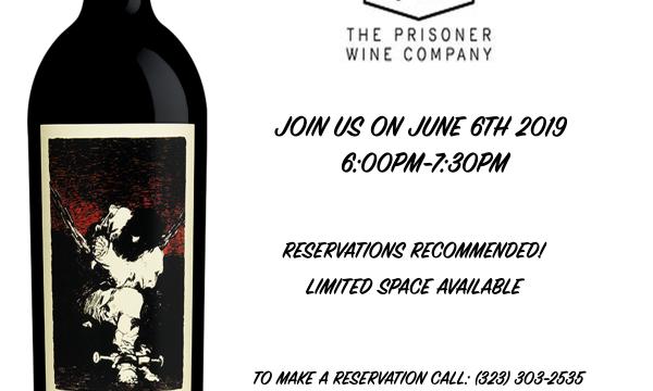 Prisoner Wine Tasting