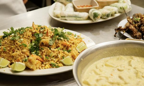 An array of Thai dishes at the Institute of Culinary Education's Essentials of Thai class.