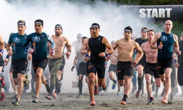 Spartan racers at the starting line