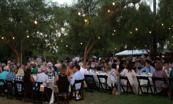 Photo of diners at Farm Dinner at the Ranch