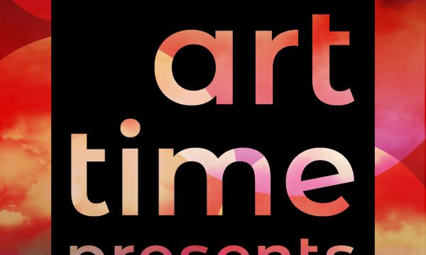 A colorful and vibrant community called Art Time Presents show a sample of digital art made by Allison DeJulius, featuring bright circles in reds, oranges and purples and a black square in the center.