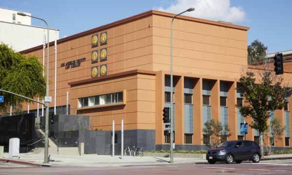 Outside look of LA Law Library