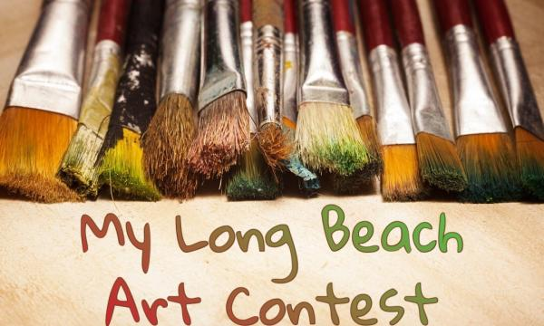 "Rancho Los Cerritos is hosting the ""My Long Beach"" youth art contest for all current K-12 students in commemoration of its 175th anniversary. All contest entries are due by Sunday, September 1st. To submit, email a photo of your entry to RLCartcontest175@gmail.com. (Photo of paint brushes w text ""My Long Beach Art Contest"" and email to submit with RLC175 logo)."
