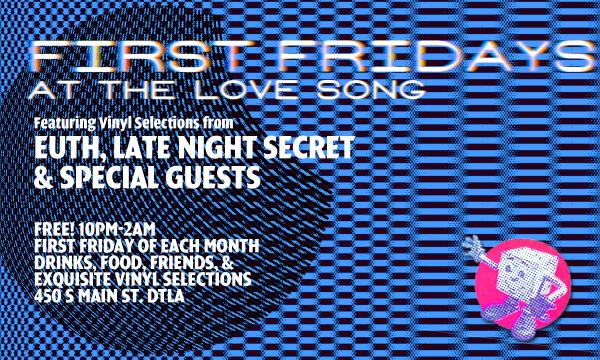 First Fridays at the Love Song Flyer