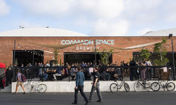 Common Space Brewery beer garden